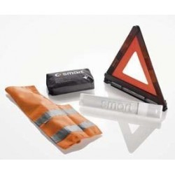 Hazard triangle, emergency jacket, first aid kit