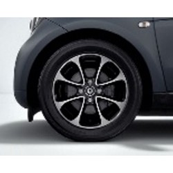 8-spoke wheel black ForTwo 453