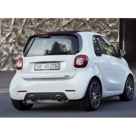 exhaust pipe brabus smart fortwo 453 smartkits sks. Black Bedroom Furniture Sets. Home Design Ideas