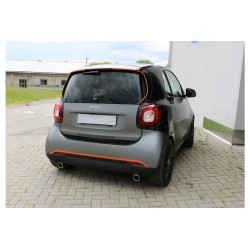 Smart Fox ForTwo 453 78x75 type 70 right / left exhaust pipe