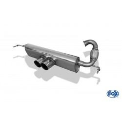 Tubo de escape Fox Smart ForTwo 453 2x80 tipo 14 centrale