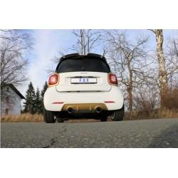 Rohr Auspuff Fox Smart ForTwo 453 for Brabus bumper 1x90 Typ 25 rechts / links