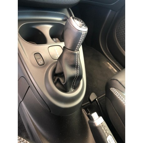 Leather boot for Gear knob ForTwo 453