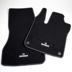 BRABUS velour floor mats Black / Silver 453