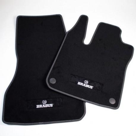 cuciture argento ORIGINALE Smart ForFour 453 Brabus tappetini posteriori in velluto nero
