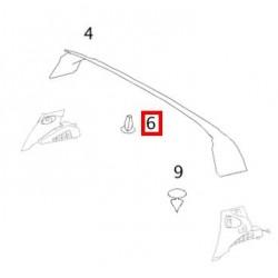 Clip fissaggio fodera tetto Smart Roadster 452